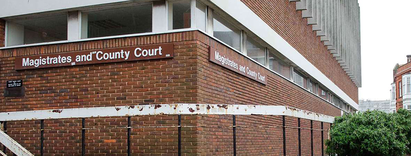 The outside of margate magistrates court building